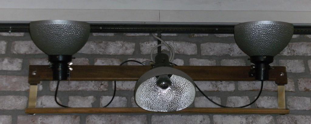 D3 - 3 Schaufensterstrahler 30er Jahre, Glas bedampft
