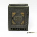 BB12 - Briefkasten Jugendstil, Metall, bez. D.R.G.M.