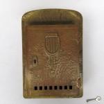 BB13 - großer Briefkasten, Jugendstil, Messing