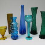 BV5 - Konvolut Vasen Glas 50er/60er Jahre