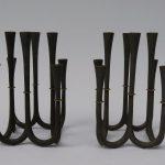 W4 - 1 Paar Kerzenständer, bez. unter dem Stand: Jens Quistgaard, made in Denmark, 60er Jahre