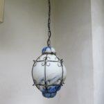 """D179 - Deckenleuchte """"Pate de Verre"""", 70er Jahre, Muranoglas, Metall"""