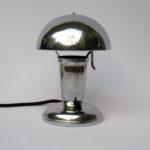 T95 - kleine Pilzleuchte, verchromt, Frankreich, Art Deco