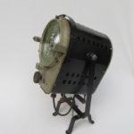 T48 - Theaterstrahler Jupiterlicht, Made in Germany auf Theaterteller, 40er/50er Jahre