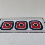 W96 - Platte, Anbietplatte, Glas, Popart, 70er Jahre