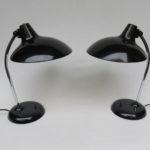 SK10 - 1 Paar Tischleuchten, Kaiser-Leuchten, Modell 6786, 50er Jahre - schwarz