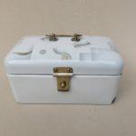 K120 - Gebäckdose, Art Deco, emailliert, Spritzdekor, gemarkt