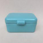 K17 - Gebäckdose, emailliert, mintgrün, innen weiß, 40er/50er Jahre