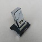 BS42 - ewiger Kalender, Art Deco, bez. GERMANY, Werbung Tobie de Prins, schwarzer Schrumpflack, verchromt, französisch