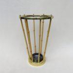 GA33 - Schirmständer, 50er Jahre, Österreich, Bambus, Messing, Keramik