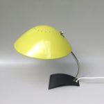 SK51 - Schreibtischleuchte, Kaiser-Leuchten Modell 6840, 60er Jahre, Schirm gelb, Stand anthrazit, vernickelt