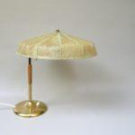 T194 - Tischleuchte, 60er Jahre, Österreich, Cocoon-Schirm, Messing