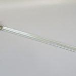 BZ35 - zierlicher Handtuchhalter 1fach, Art Deco, Glas, verchromt