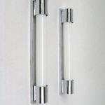 WS20 - 1 Paar minimalistische Wandleuchten, Sofitten, Art Deco, verchromt