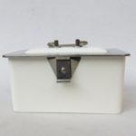 K61 - Gebäckdose, Keramik, 30er Jahre, helles beige bzw. gedecktes weiß