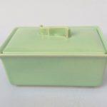 K84 - Gebäckdose, Deckeldose, Art Deco, Villeroy & Boch, Echt Mettlach, Keramik, mintgrün