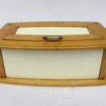 K58 - kleine Brotdose, Art Deco, Keramik, Holz, Messing, Wächtersbach
