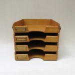 BS32 - Ablagekasten für Schreibtisch, 4fach, Holz, Bauhaus, 30er Jahre