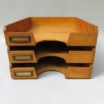 BS94 - Ablagekasten für DIN A4, 3fach, Bauhaus, 30er Jahre, Holz