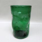 BV43 - Blumenvase, Bechervase, 60er Jahre, Glas grün